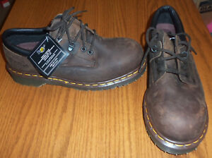 aaf81d64ce4 Details about NWT Dr Martens Industrial Steel Toe Oxford Safety Work Boot  Shoe 8 Brown NEW