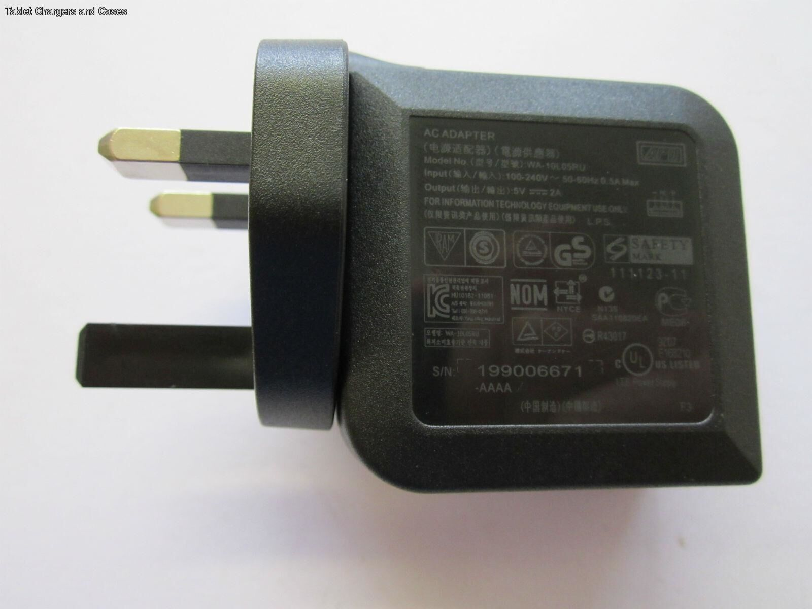 UK 5.0V 2.0A Switching Adapter Charger 4 ASUS Trans4mer Book 10.1 T100T AD835M1