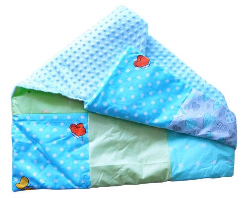Baby Decke Wagendecke Kuscheldecke Babydecke 95 x 70cm Baumwolle Wattiert