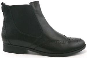 separation shoes cc28c 54bd6 Details zu GABOR Chelsea Boots 40 Stiefelette LEDER Schuh Schwarz Stretch  UK 7 Damen NEU