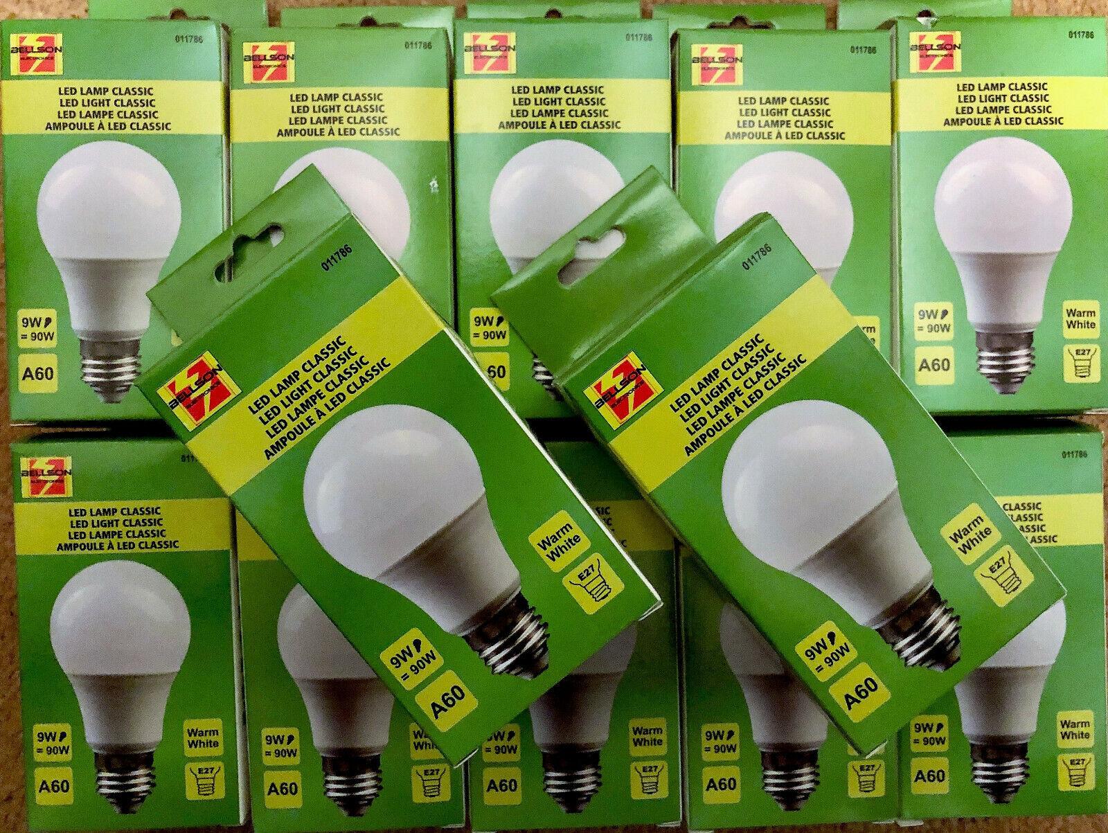 24x LED Leuchtmittel 5 W 9 W Leuchte E27 Lampe Glüh-Birnen Glühbirnen Warmweiß
