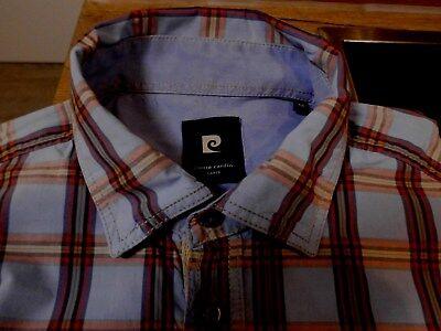 UnermüDlich Pierre Cardin Hemd Oberhemd Herren Größe M 38/40 Baumwolle ~~ Kurzarm Ausreichende Versorgung