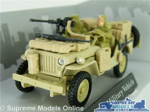 WILLYS JEEP MODEL CAR 1:43 MILITARY ARMY WITH FIGURES CARARAMA SAND OPEN TOP K8