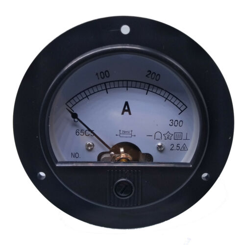 US Stock DC 0~300A Analog AMP Current Pointer Needle Panel Meter Ammeter /& Shunt