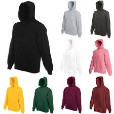 Men Women Sweatshirt Hoodie Pullover Hoody Cotton Plain Design Jumper Casual