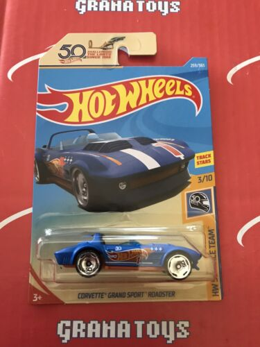 Corvette Grand Sport Roadster #259 Race Team 2018 Hot Wheels Case L