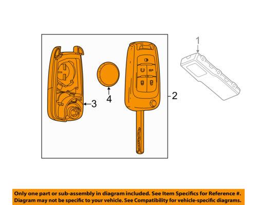 Chevrolet GM OEM 14-15 Sonic Keyless Entry-Key Fob Remote Transmitter 13579216