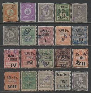 FISCAUX - SOCIO POSTAUX D' ALSACE -1936-1940 LOT COTE > 350.00 € (ref 3752) aPV6BhNE-07143018-326426165