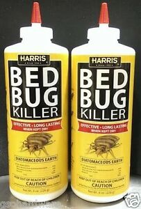 2-pack-HARRIS-HDE-8-EGG-BED-BUG-Diatomaceous-Earth-Powder-INSECT-KILLER-8oz-NEW
