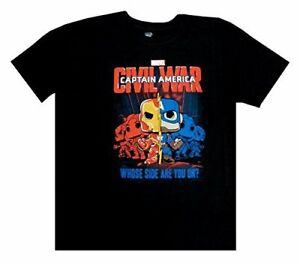 Funko-Pop-Tees-Men-039-s-Short-Captain-America-Graphic-T-Shirt-Black-Size-M-amp-XS-NEW