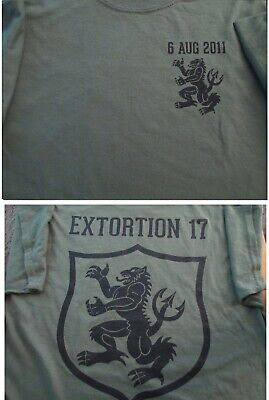 Navy SEALS EXTORTION 17 Gold Squadron T-SHIRT XXL Military Collectible