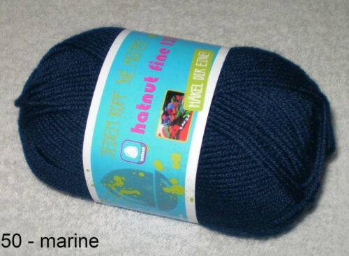Diez bolas de 100g Doble Hilo Tejer Super Suave Robin Azul Real Tejido Crochet dk