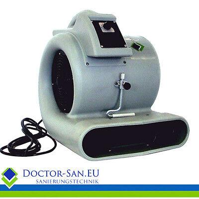 Doctor-san Radial-turbolüfter Turbogebläse Bauventilator Radialgebläse 1501 M³/h Bautrockner