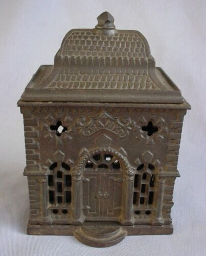 1896 HOME SAVINGS BANK GOTHIC ORNATE ROOF CAST IRON