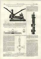 1890 Steam And Manual Fire Engine Dewey Electric Railway System Chevalet Cleaner
