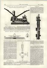 1890 vapore e manuale FIRE ENGINE Dewey ELECTRIC sistema ferroviario Chevalet CLEANER