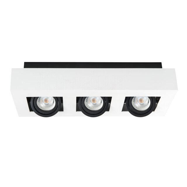 Kanlux Stobi 3 Spot LED Downlight Spotlight Boxed Tilt Shop Display Light GU10
