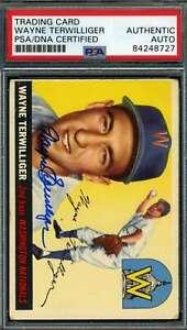 Wayne Terwilliger PSA DNA Coa Autograph 1955 Topps Hand Signed