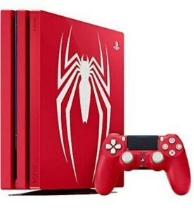 PS4-Pro-Spider-Man-034-Amazing-Red-034-1TB-Playstation-4-Limited-Edition-Console-NEW