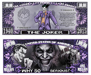 LE-JOKER-BILLET-MILLION-DOLLAR-US-Collection-Batman-Super-Heros-Comics-bd-the