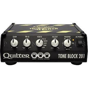 quilter labs toneblock tb201 200 watt tone block micro guitar amp head new 854710003611 ebay. Black Bedroom Furniture Sets. Home Design Ideas