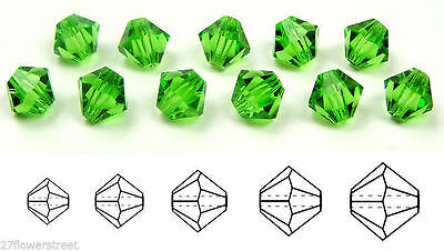 Choose a Size Czech Machine Cut Drop Pendants in Peridot