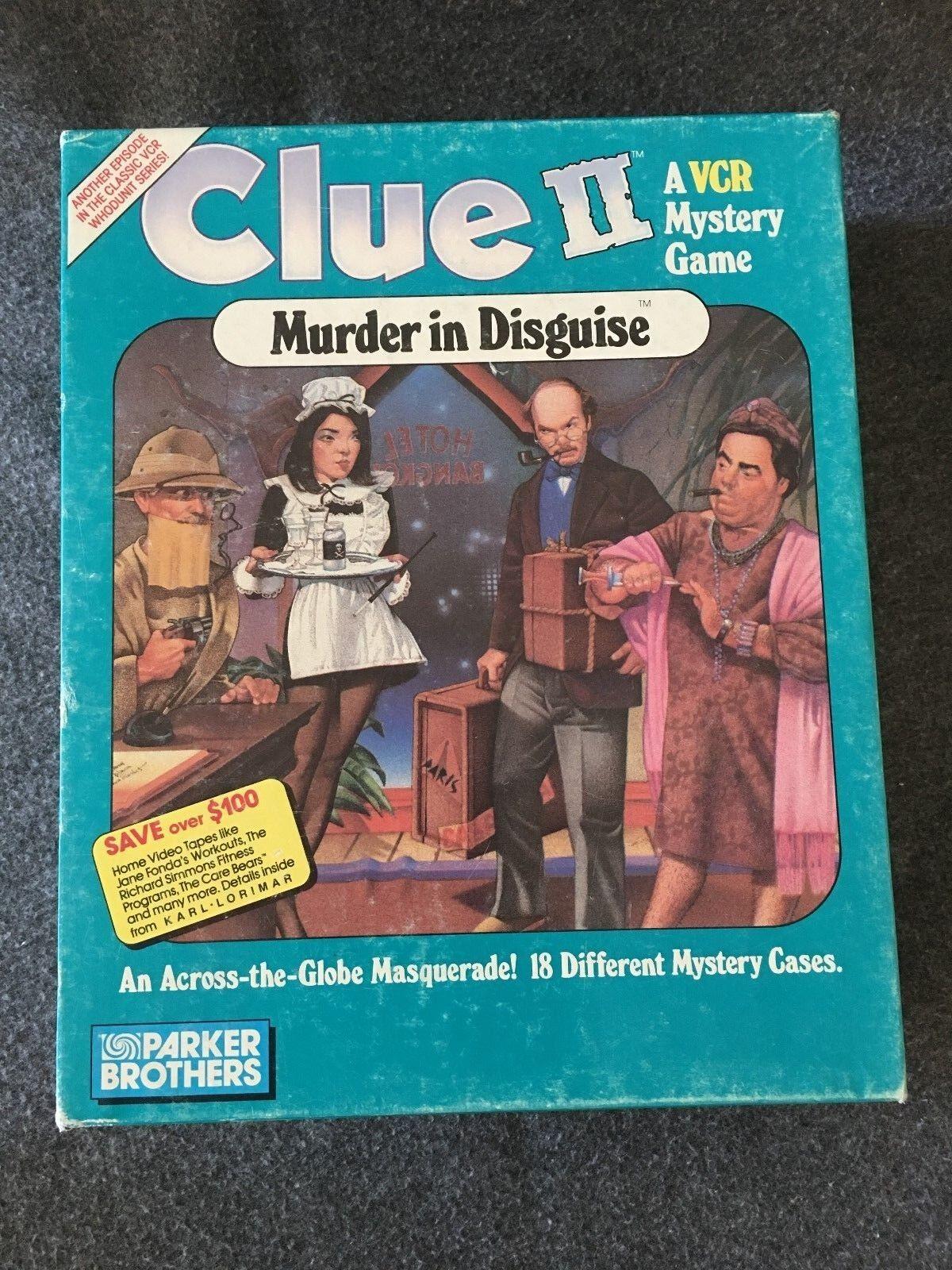 Pista 2 asesinato in Disguise VCR juego 1987 Coleccionable