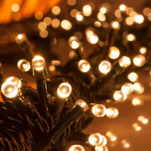 200 Eclairage Pour Lampe Guirlande Détails Noël Led Sur Solaire Mariage Jardin 22m Extérieur F1JuTlKc3
