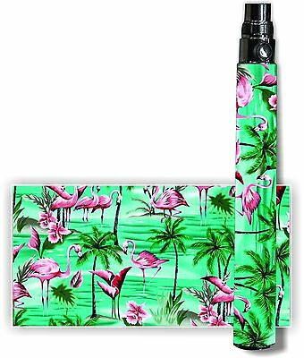 Battery Skins Fits: eGo/Vision/Itaste Clk/Other Cover Vinyl Vape Wraps -FLAMINGO