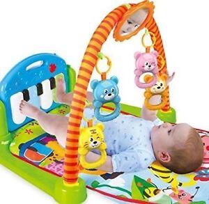 3-in-1-Spielma<wbr/>tte für Babys, Krabbeldecke, Spielmöglichke<wbr/>iten, Spieldecke, Musik