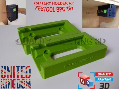 2x BATTERY HOLDER for FESTOOL BPC 18v storage mount clips case cover