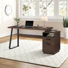 Home Office Desks Black Computer Workstation 65 Laptop Pc Table With Drawers