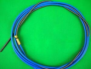 MIG-Liner-BLUE-Steel-0-6-0-9mm-x-5mtr-Binzel-Style-Insulated-Bobthewelder-OZ
