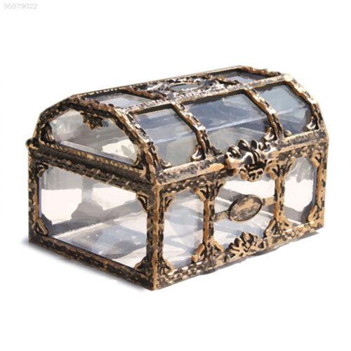 5E92 Metal Lock Coin Storage Box Fashion Pirate Design Treasure Chest