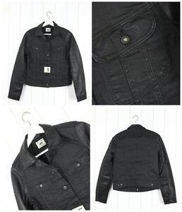 Similpelle Jeans Di Nero Slim Giacca Rider Xs Nuovo Slavato Donna Lee IwX6qzO