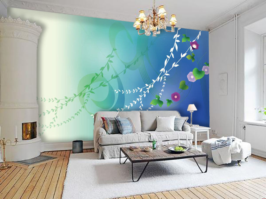 3D Leaves Vine 262 Wall Paper Wall Print Decal Wall Deco Indoor Wall