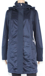 Details zu Bonita Damen Jacke Softshell mit Teddyfutter Parka Mantel mit Kapuze blau