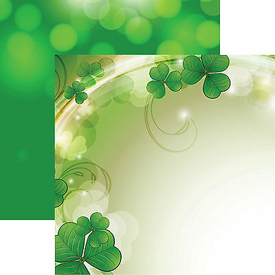 Reminisce LUCKY CHARM 12x12 Dbl-Sided 2 PCS Scrapbooking Paper CLOVER