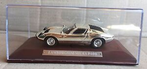 DIE-CAST-034-LAMBORGHINI-MIURA-P400-034-SILVER-CARS-COLLECTION-ATLAS-SCALA-1-43