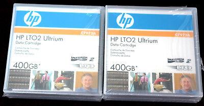 2x Hp Lto2 Ultrium 400gb 1x Hp Ultrium Data Cartridge 200gb, Rechg Inkl.19%