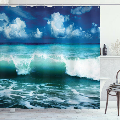Printed Polyester Shower Curtain for Bathroom 70 Inches Long
