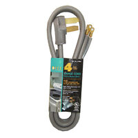 4' Range Oven Cord 50amp Gray Color 250v 3-wire 4ft