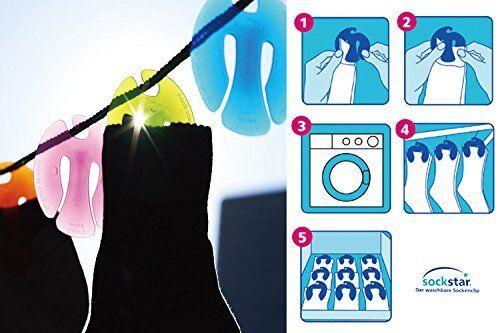 SOCKSTAR SOCKENKLAMMERN SOCKENCLIPS 20 Stück in der Edition Frosted Colours