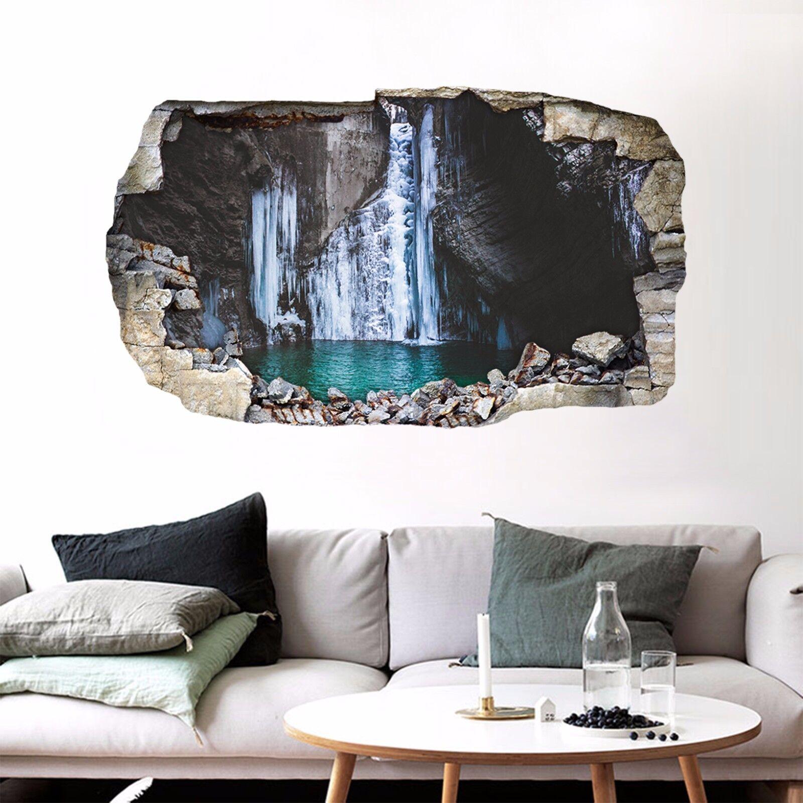 3D Lago Ghiaccio Parete Murales Parete Adesivi Decal Sfondamento AJ WALLPAPER IT