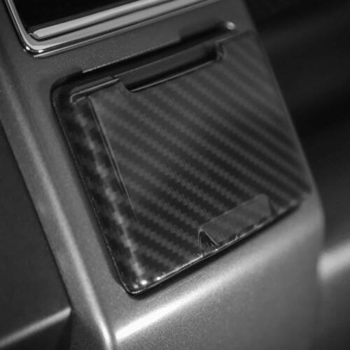 Carbon Fiber Grain Central Electrical Outlet Socket Trim for Ford F150 2015-2017