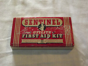 VINTAGE-ADVERTISING-SENTINEL-UTILITY-FIRST-AID-KIT-TIN-EMPTY