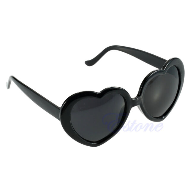 10 Color New Fashion Outdorr Cute Shining Big Heart Shape Sunglasses Eye Glasses