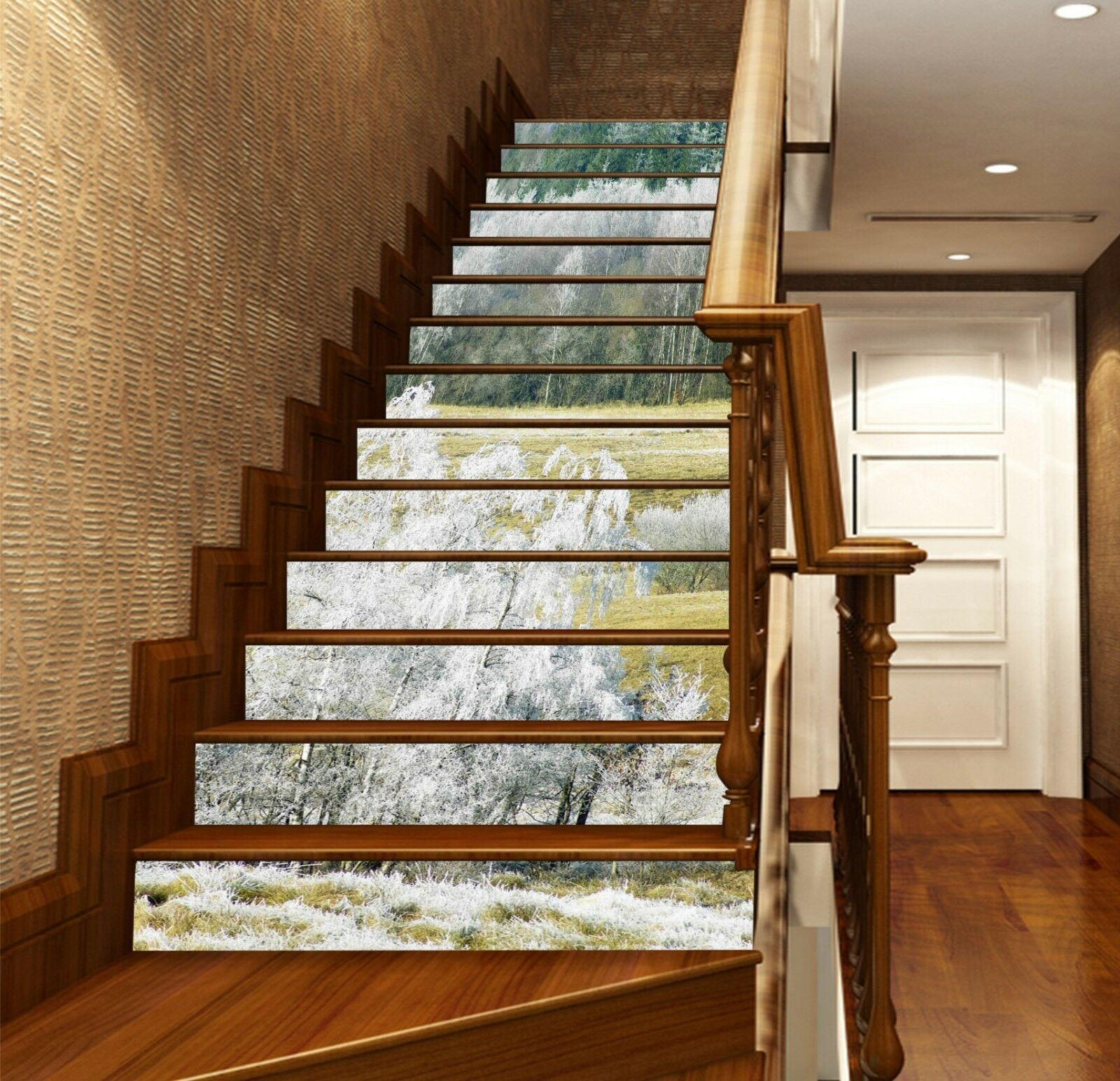 3D Tree lawn 245 Stair Risers Decoration Photo Mural Vinyl Decal Wallpaper UK