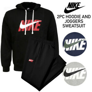 Nike-Men-039-s-Pullover-Fleece-Hoodie-and-Sweatpants-Complete-2-PC-Jogger-Sweatsuit