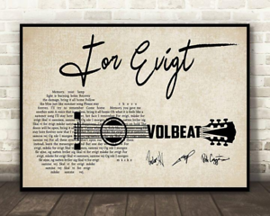 Volbeat For Evigt Lyrics Horizontal Paper Poster 12-48/'/' Without Frame